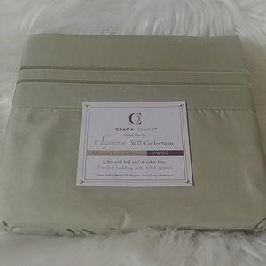 Clara Clark Supreme 1500 Sage Twin Sheet Set